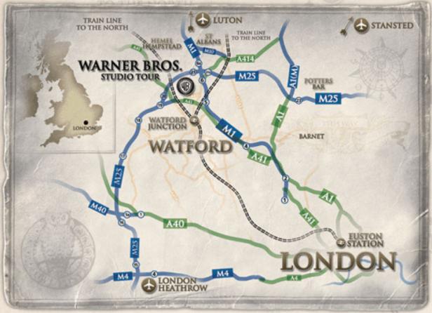 Itinéraire-pour-se-rendre-au-Warner-Bros-studios-à-Leavesden.